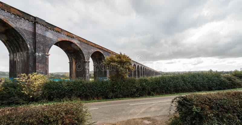 Мост Corby или виадук Wetheral в Англии стоковая фотография rf