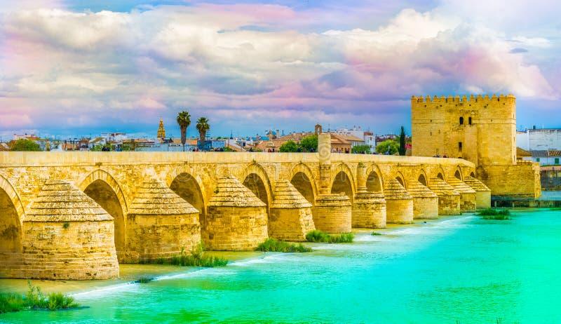 мост cordoba римский стоковое фото rf