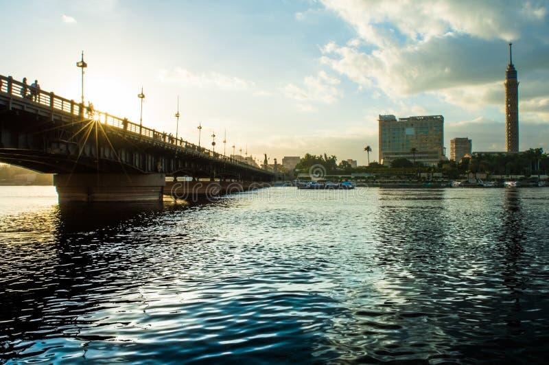 мост el Нила kasr стоковая фотография