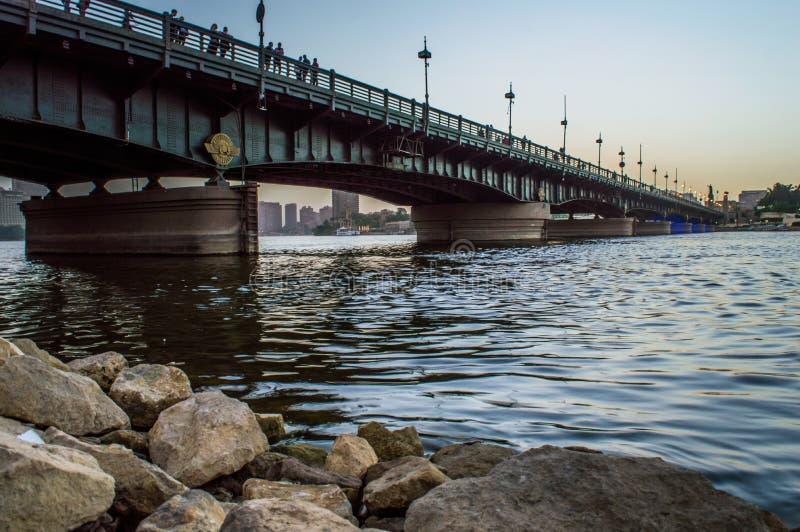 мост el Нила kasr стоковые изображения