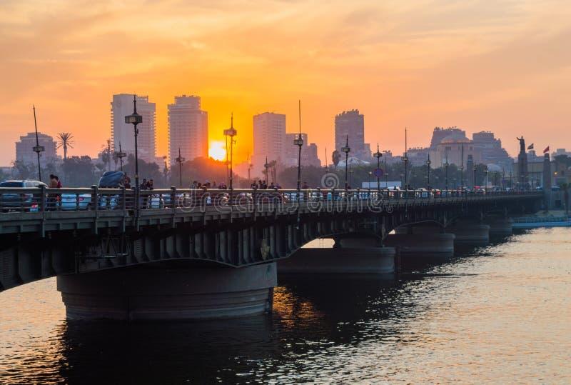 мост el Нила kasr стоковое изображение rf