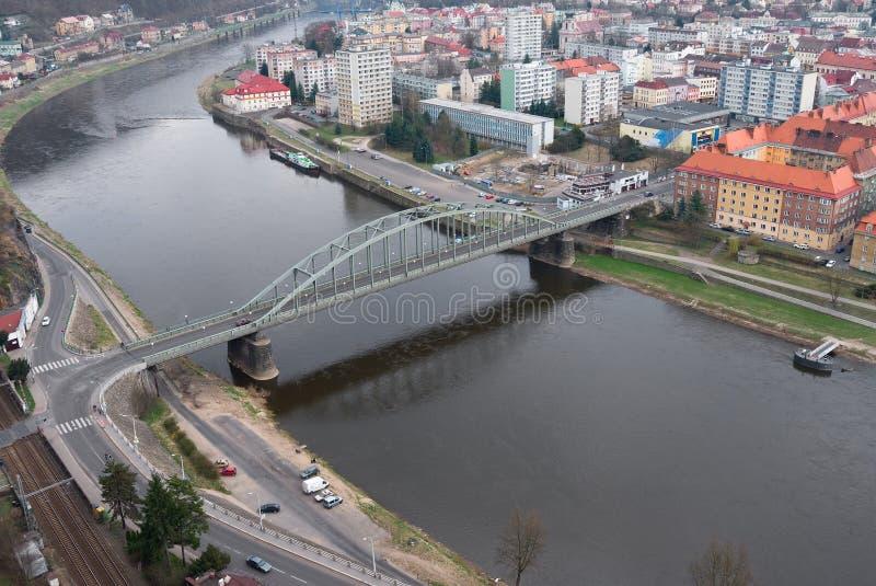 мост elbe над рекой стоковое изображение rf