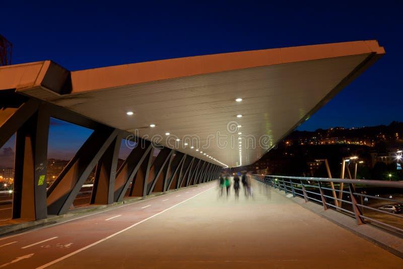 Мост Euskalduna стоковая фотография rf