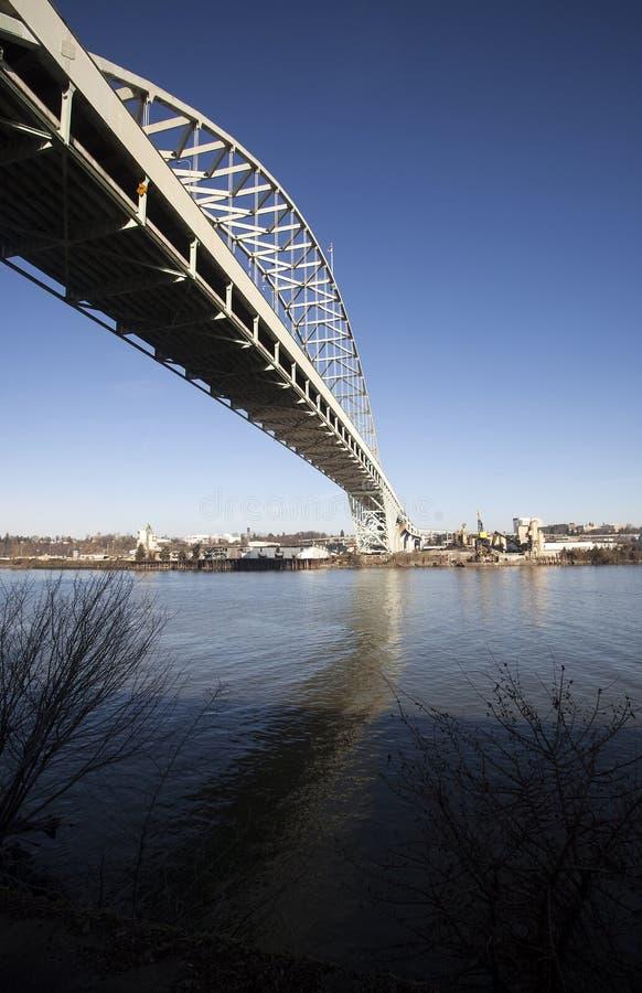 Мост Fremont в Портленде, Орегоне стоковая фотография