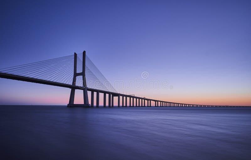 Мост Gama Vasco da стоковое фото