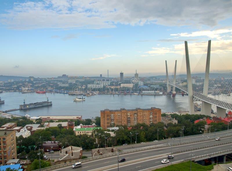 Мост Guyed в Владивосток стоковая фотография