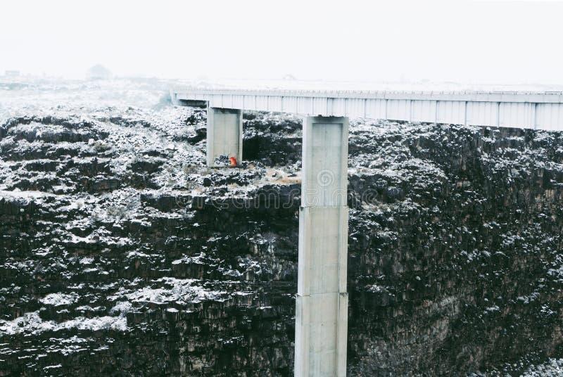 Мост Hansen в Twin Falls стоковое фото rf