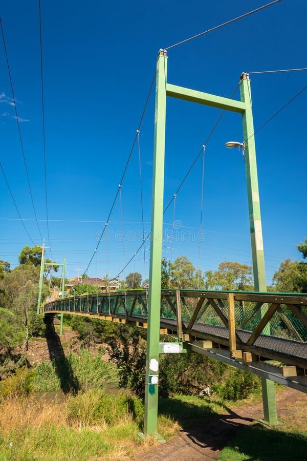 Мост Harding в лете Кобурге, Виктории, Австралии стоковые изображения