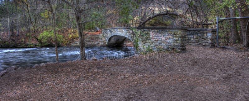 Мост HDR реки стоковые изображения rf