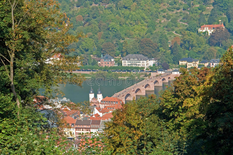 мост heidelberg стоковая фотография rf