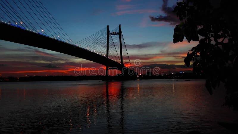 Мост Hooghly стоковые фотографии rf
