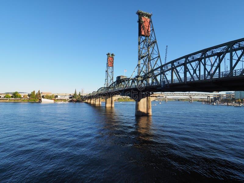 Мост Hwtorne, Портленд, Орегон стоковая фотография rf