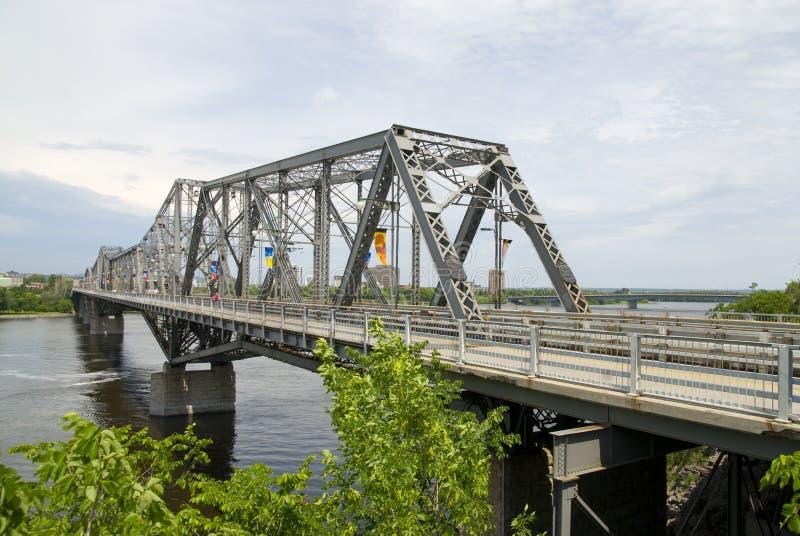 мост interprovincial ottawa стоковые изображения