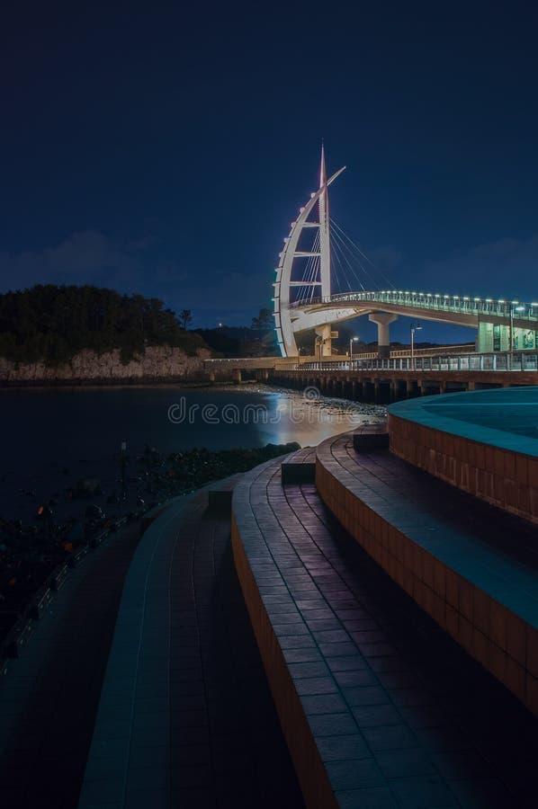 Мост Jeju любовника стоковое изображение