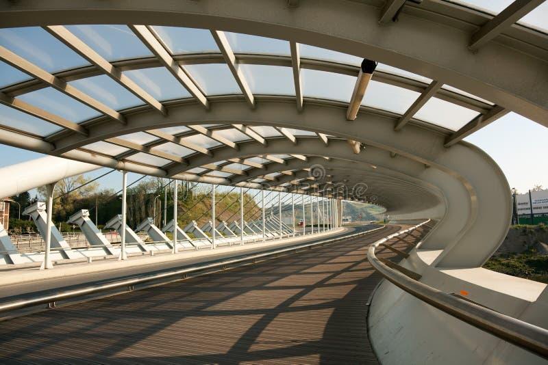 Мост Kaiku, Barakaldo стоковая фотография rf