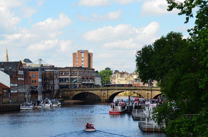 Мост Lendal, Йорк стоковое изображение rf