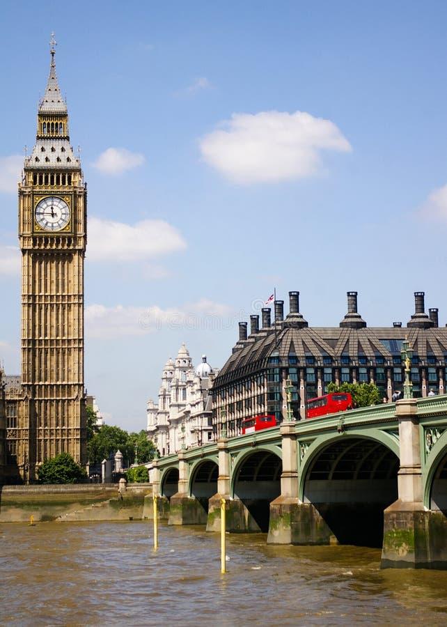 мост london Великобритания westminster ben большой стоковое изображение rf
