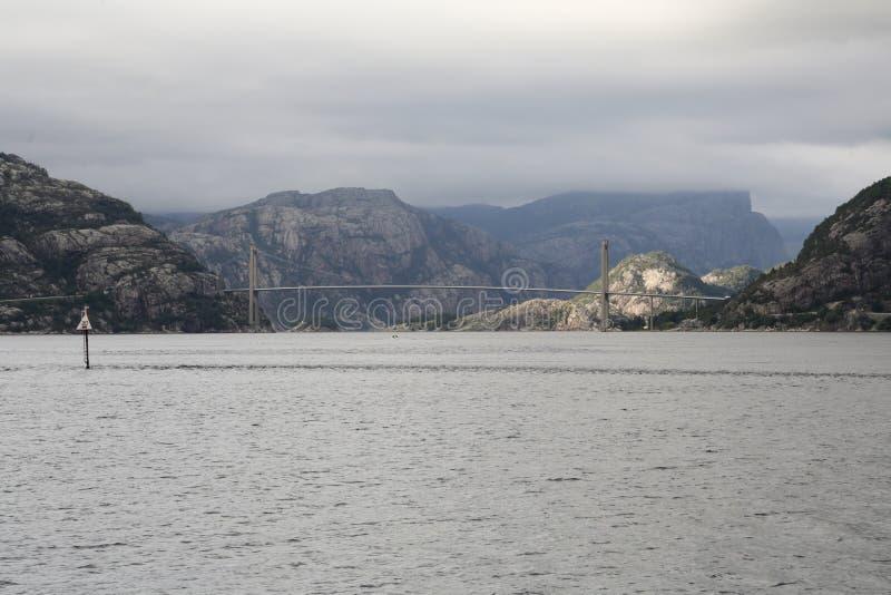 Мост Lysefjord стоковое фото
