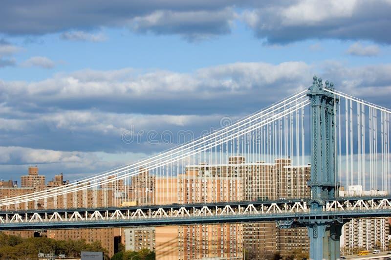 мост manhattan стоковое изображение rf
