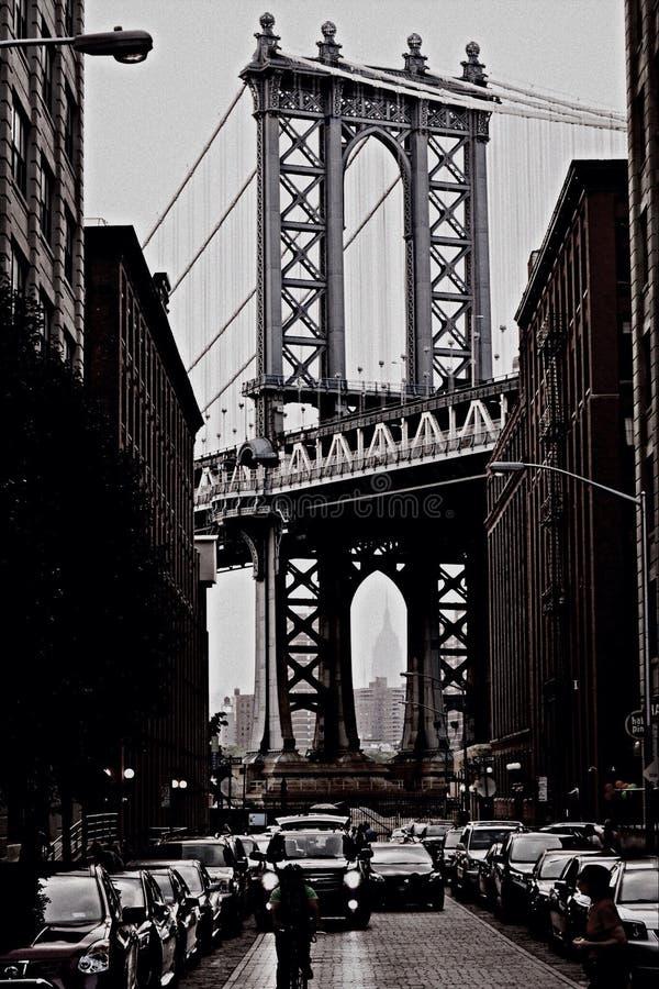 мост manhattan стоковые фотографии rf