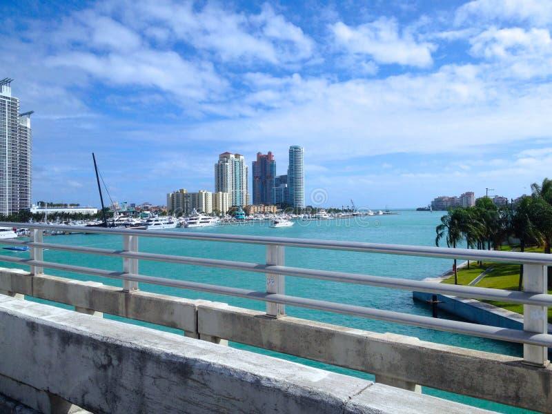 Мост Miami Beach стоковые изображения rf