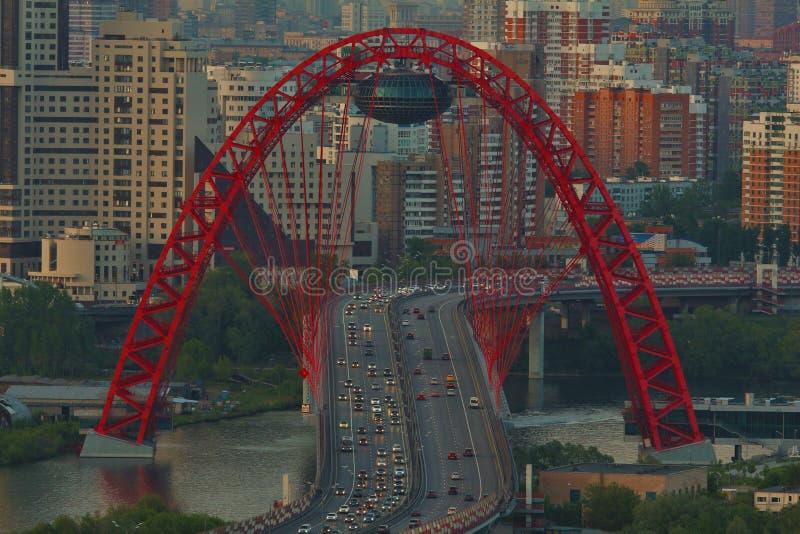 мост moscow zhivopisny стоковое изображение rf