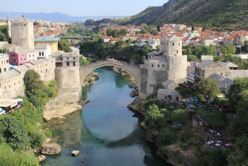 мост mostar старый стоковые фото