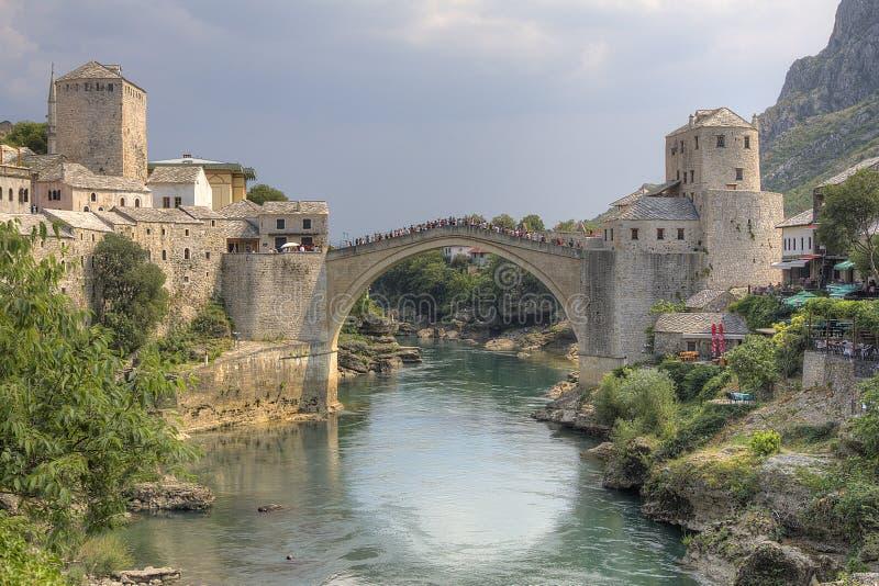 мост mostar стоковая фотография rf
