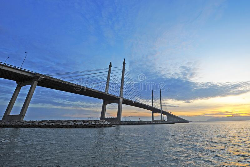Мост Penang стоковое фото rf