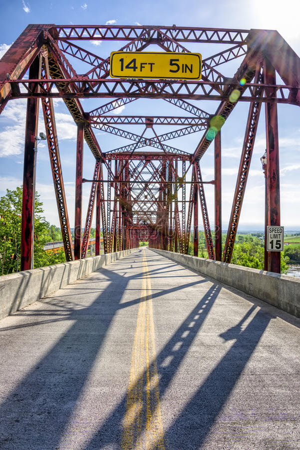 Мост Plattsmouth стоковые фотографии rf