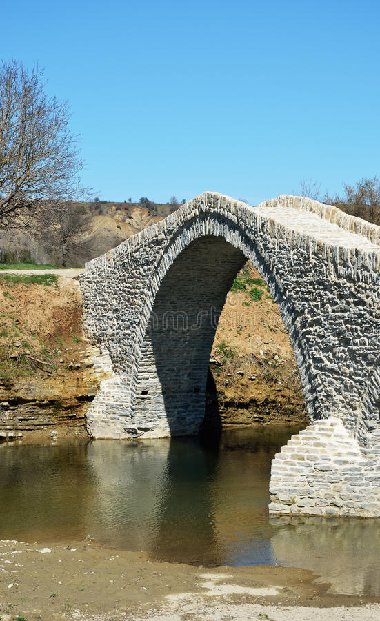Мост Pramortsa в козани, Греции стоковое фото rf