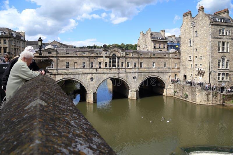 Мост Pulteney в ванне, Великобритании стоковые изображения rf