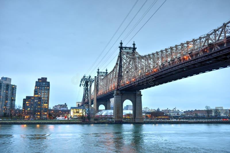 Мост Queensboro от Манхаттана, NY стоковая фотография rf