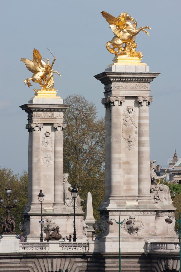 Мост ` s третьего Александра в Париже стоковые изображения