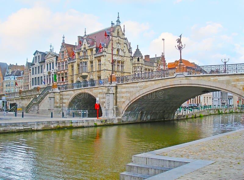 Мост ` s St Michael в Генте стоковые фото