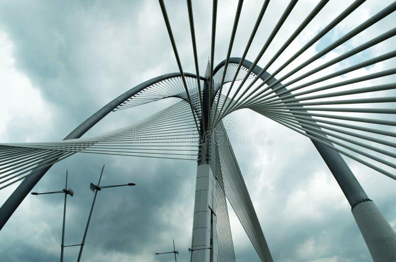 Мост Seri Wawasan Путраджайя, Малайзии стоковая фотография