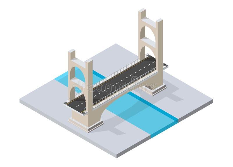 Мост skyway иллюстрация штока