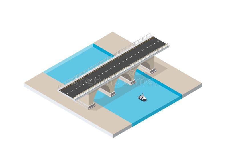 Мост skyway иллюстрация вектора