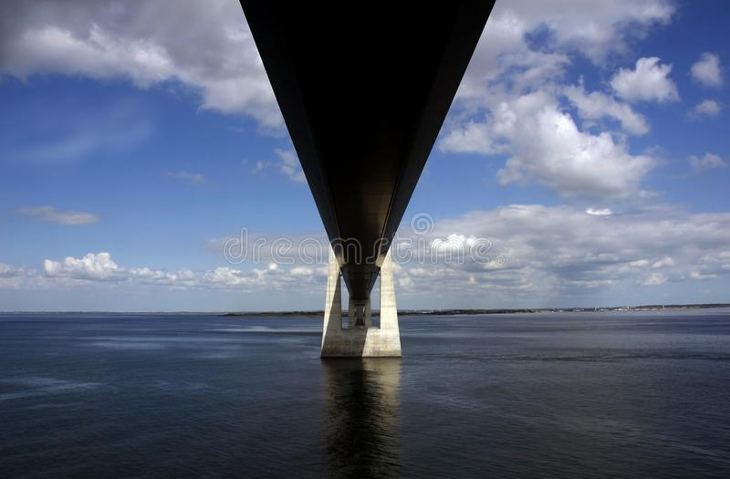 Мост Sprogo стоковое фото