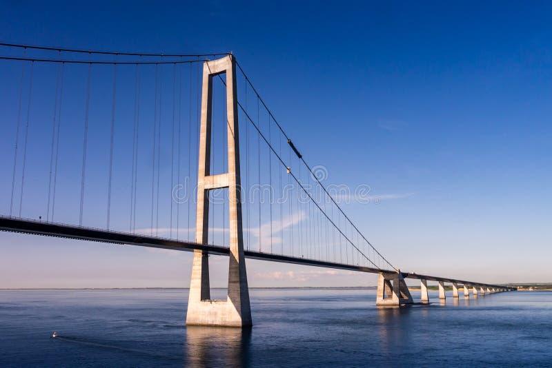 Мост Storebelt, Дания стоковое фото rf