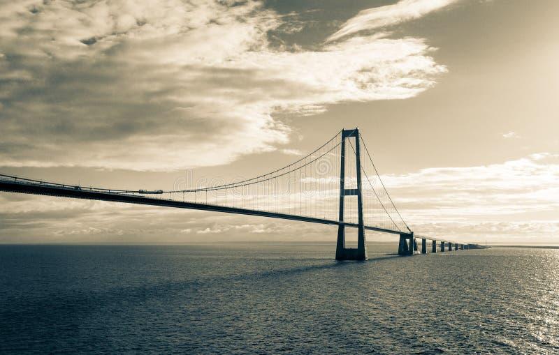 Мост Storebelt, Дания стоковая фотография rf