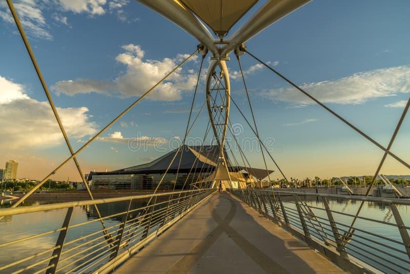 Мост Tempe пешеходный стоковое изображение