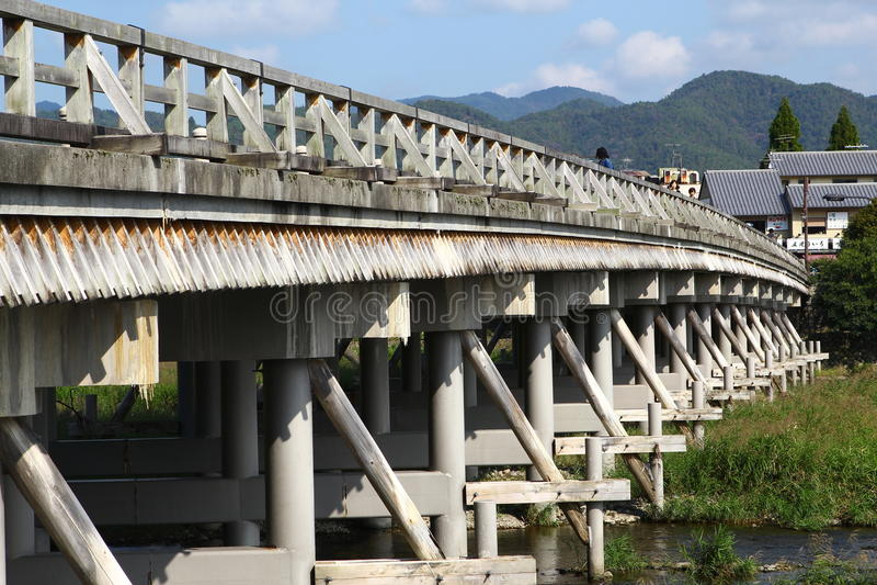 Мост Togetsukyo стоковое изображение rf