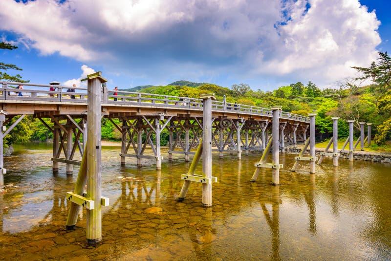 Мост Uji Ise, Японии стоковые фото