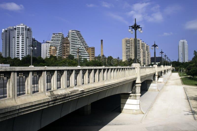 мост valencia стоковые изображения