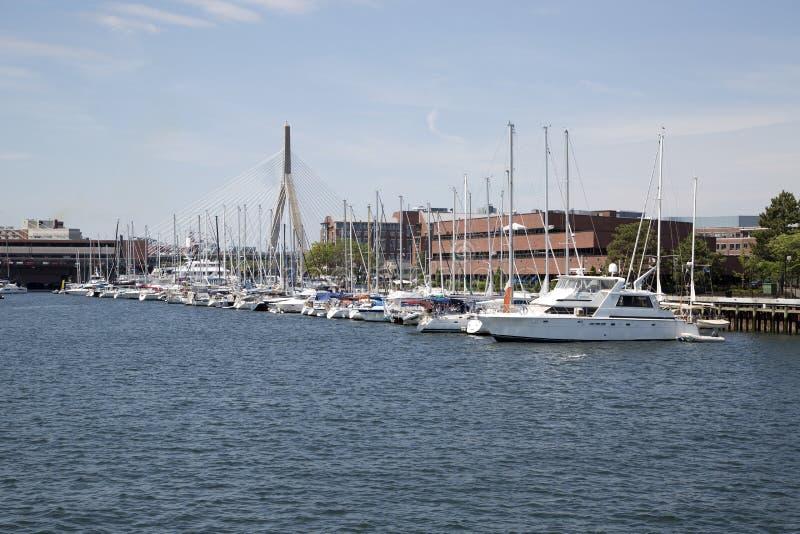 Мост Zakim в городе Бостоне стоковые фото
