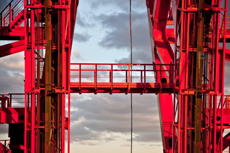 Мост Zhivopisny Кабел-остали мост Конец-вверх moscow стоковое изображение