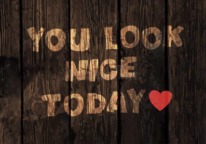 Мотивационная фраза на деревянной текстуре планок бесплатная иллюстрация