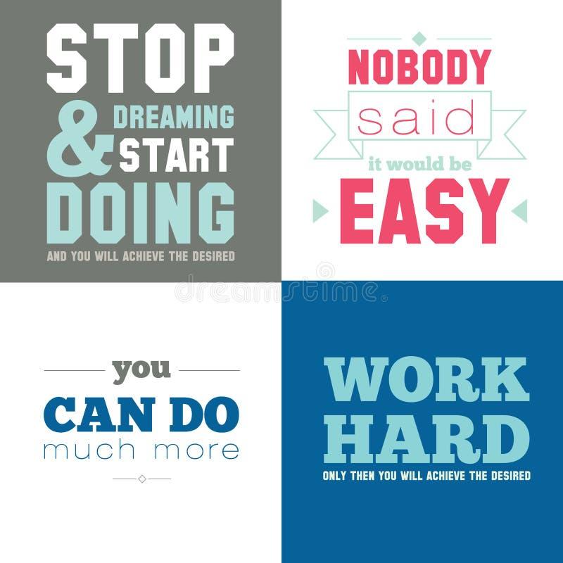 Мотивационные плакаты на спорте, здоровом бесплатная иллюстрация