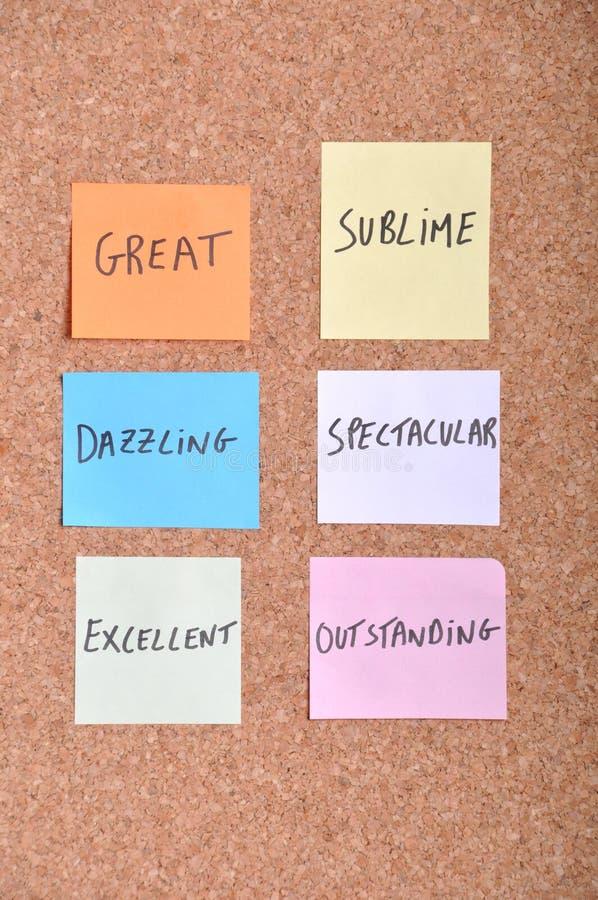 мотивационные слова стоковое изображение rf